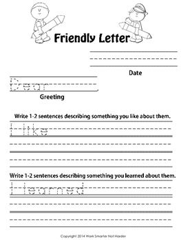 Friendly Letter Writing KitDifferentiated Purposeful Weekly