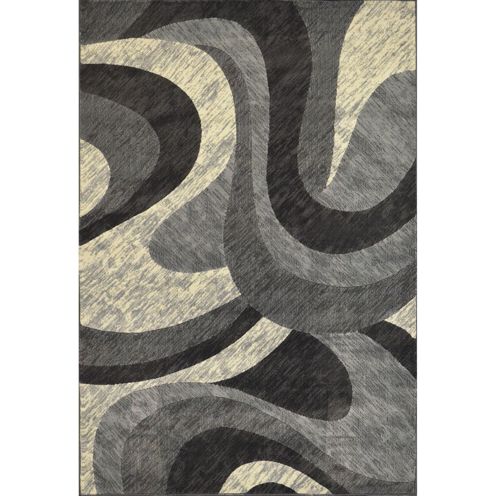 Home Dynamix Reaction Collection Brown Machine Made Polypropylene Area Rug