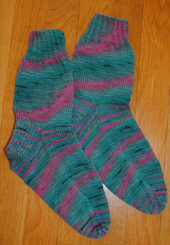 Multi colored hand knitted women\'s socks   Pinterest   Calcetines de ...