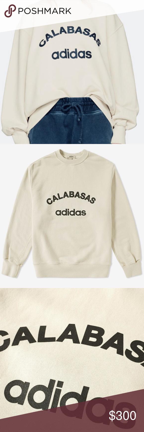Yeezy Season 5 X Adidas Calabasas Sweatshirt Sweatshirts Yeezy Sweatshirts Hoodie [ 1740 x 580 Pixel ]