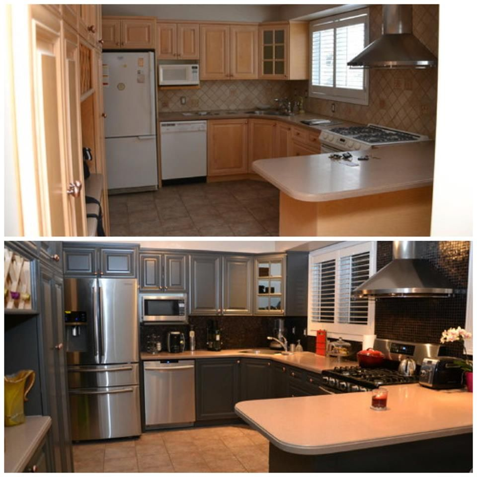 Mobile Home Kitchen Cabinets: Kitchen Before And After