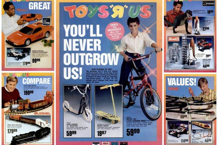 Toys R Us catalog 'You'll never outgrow us' (1987) Toys