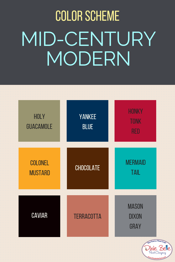 Channel Your Mid Century Modern With This Color Scheme Check Out These Beau Mid Century Modern Colors Mid Century Modern Exterior Mid Century Modern Furniture