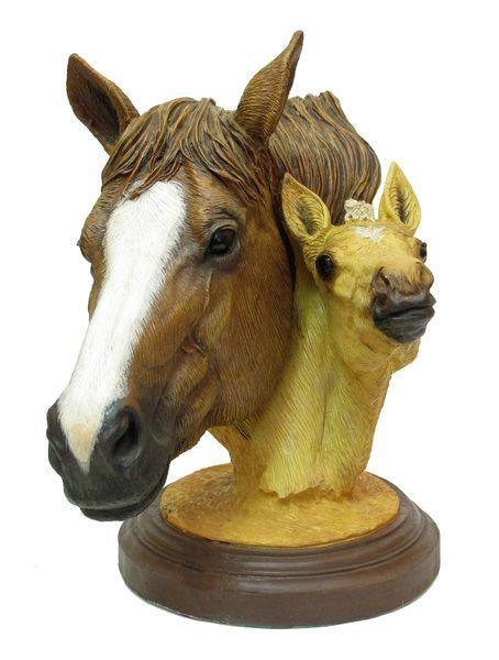 living stone quarter horse bust horses cowboys indians western