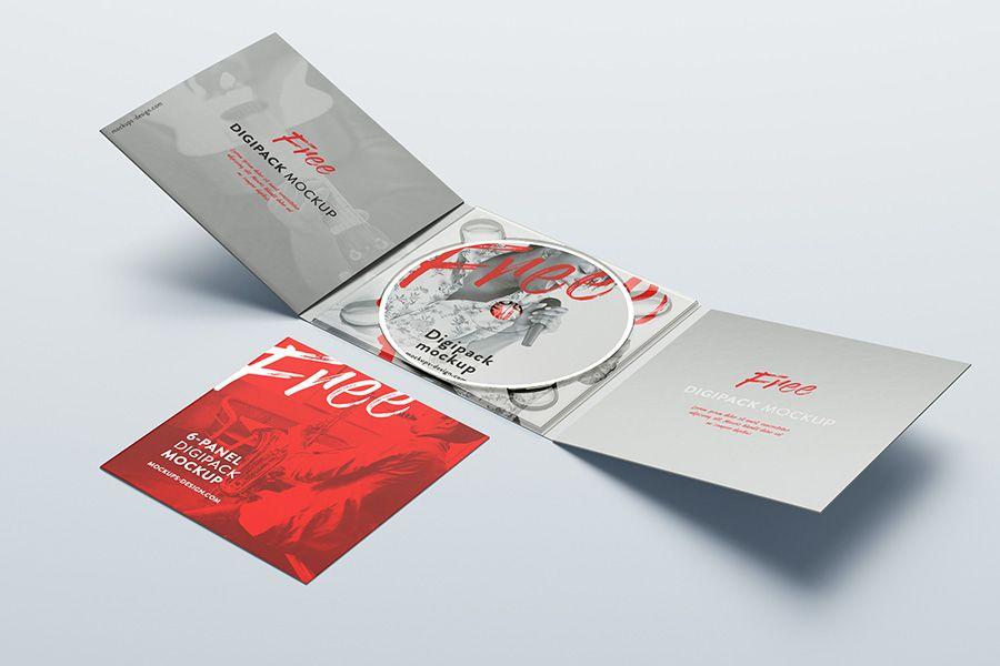 Free 6 Panel Digipack Mockup Mockups Design Mockup Design Graphic Design Mockup Branding Mockups