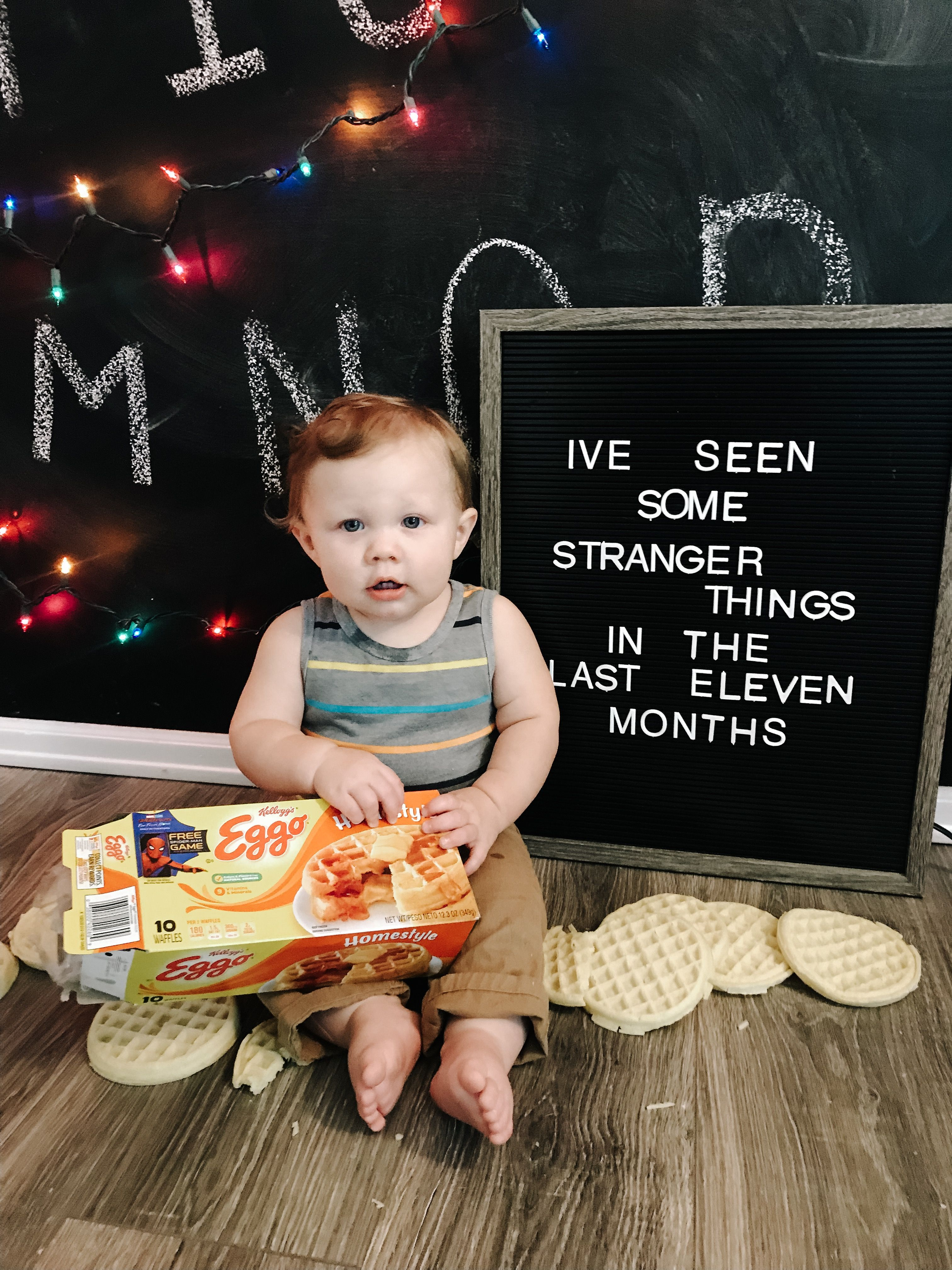 Stranger Things Eleven Months Milestone Letterboard Baby Milestones Pictures Baby Girl Newborn Photos Monthly Baby Photos Girl