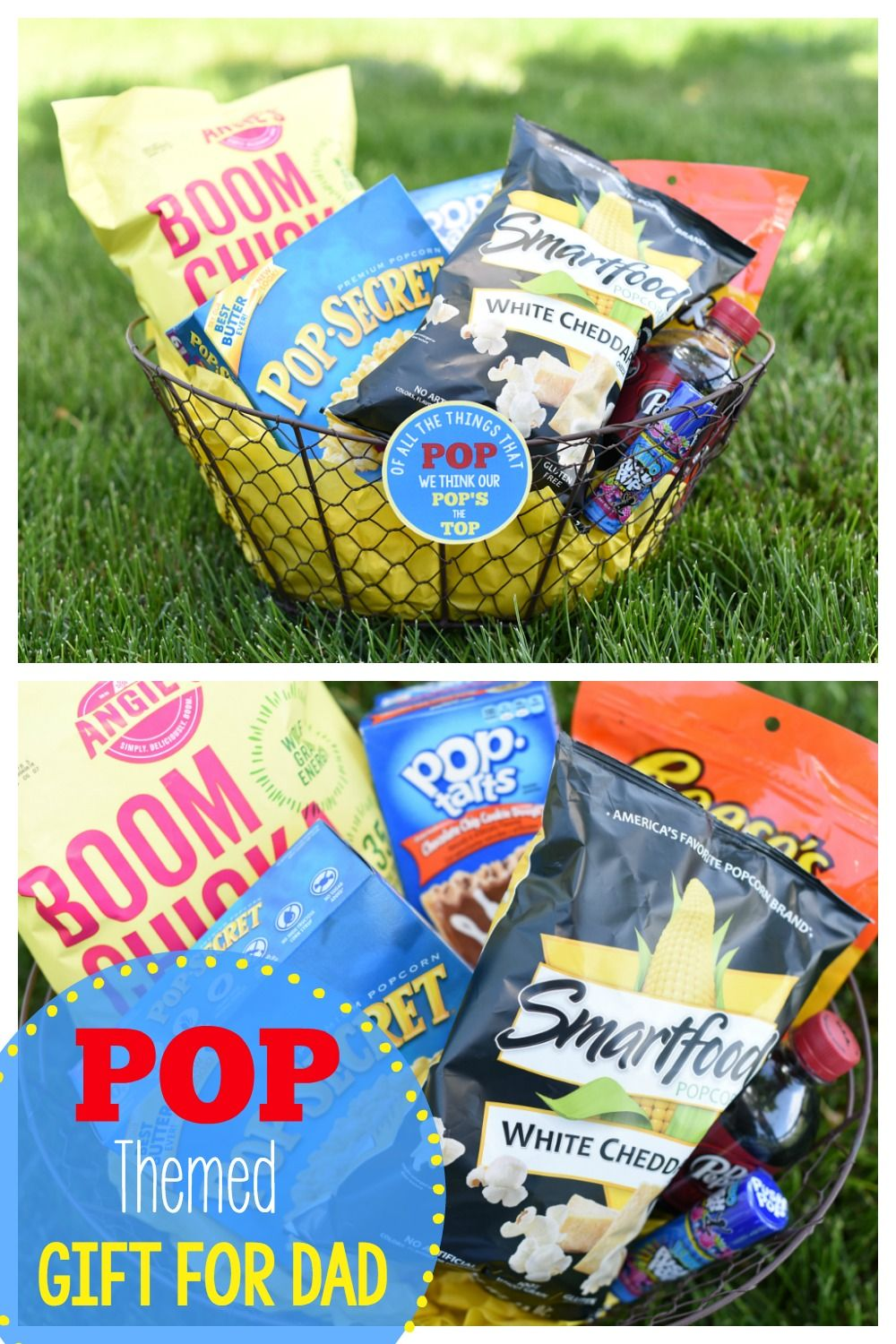 Diy fathers day basket ideas pop themed fathers day