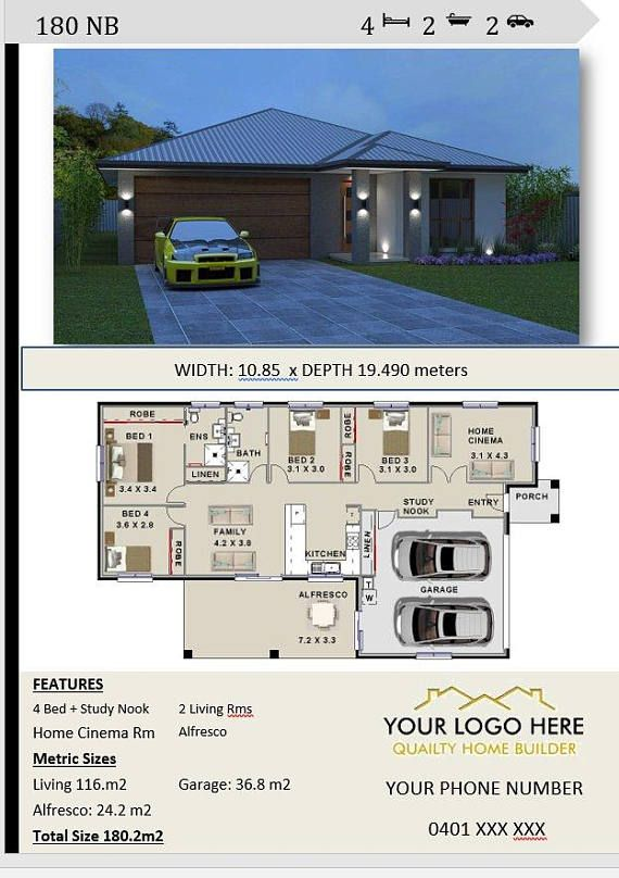 180m2 Affordable Architecture Design Home Builders Architecture Design House Plans Architecture House