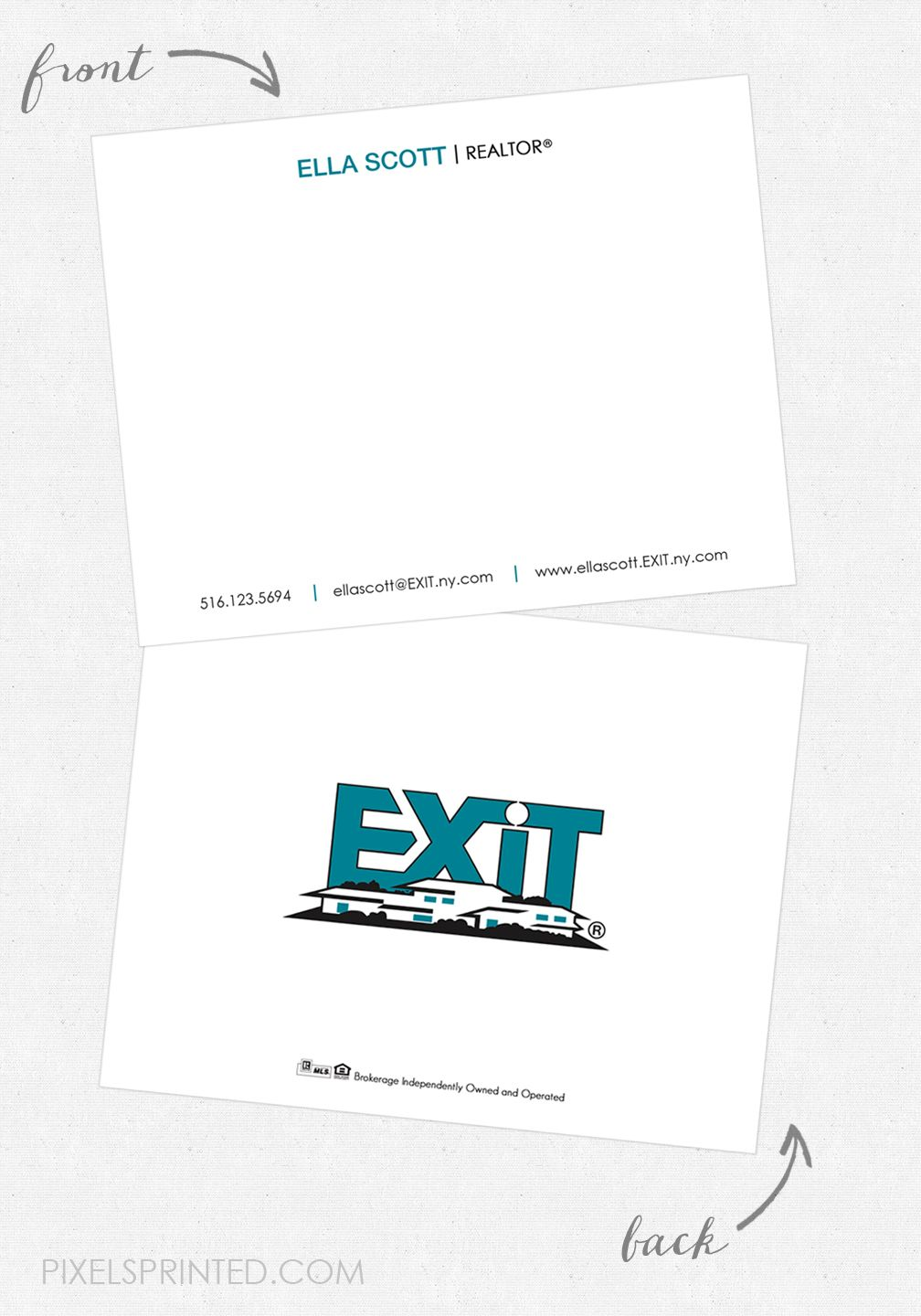 exit personal note cards  personalized note cards note