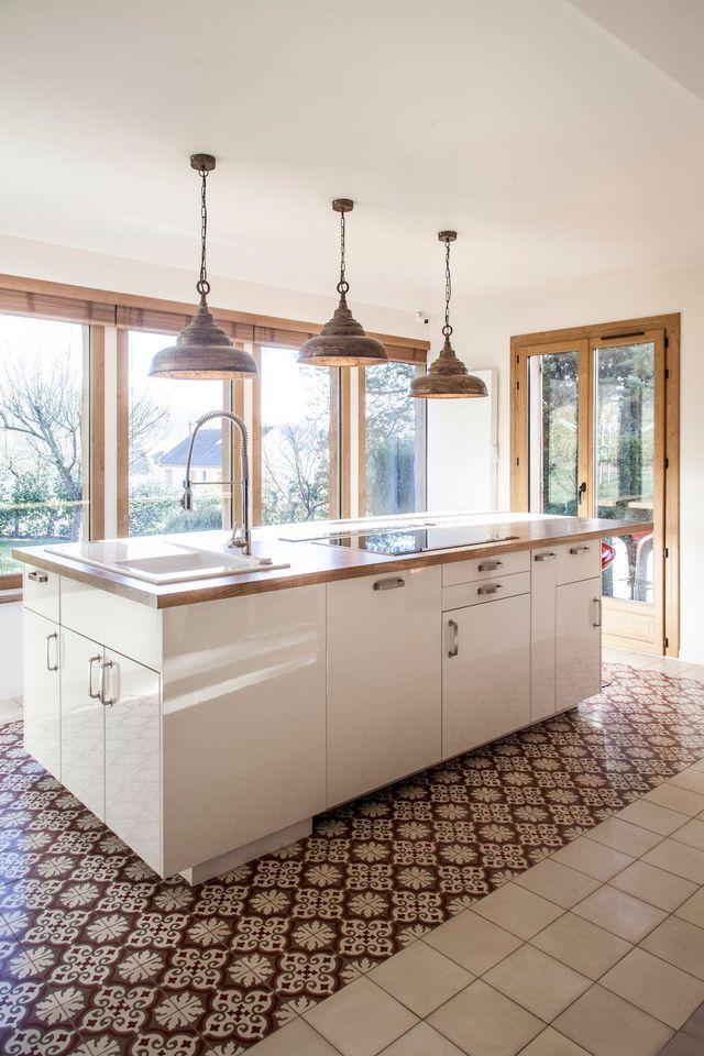 maison banlieue parisienne une extension avec jardin cuisine fonctionnelle le plan et. Black Bedroom Furniture Sets. Home Design Ideas