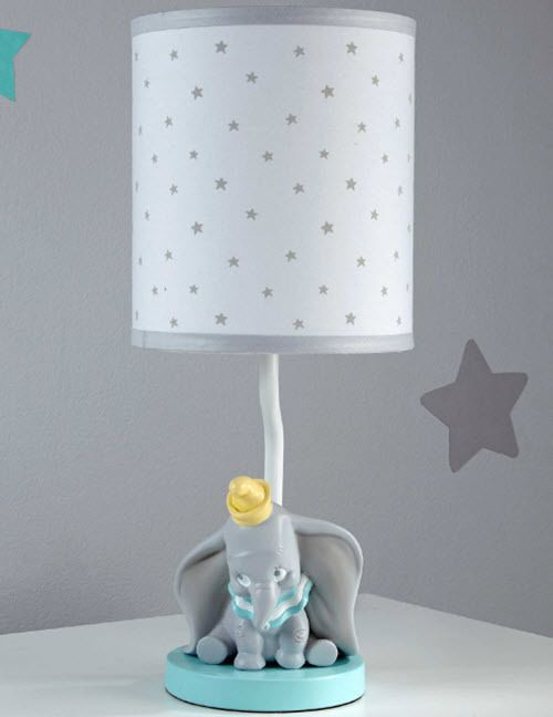 Nursery Light Dumbo Elephant Resin Lamp Base Fabric Shade Table Illumination New Baby Décor Lamps Shades Ebay
