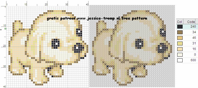Verbazingwekkend 110 Free cross stitch designs dogs 4 stitchingcharts borduren QB-98