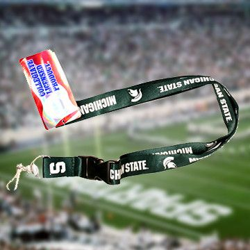 Michigan State Lanyard - Show off your teams colors! Cutest Michigan State Lanyard on the Planet! Don't miss our Special Sales Event. Many teams available. www.DilyDalee.co