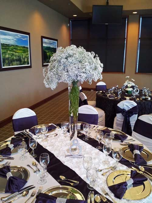 wedding bouquets baby's breath and tie dye orchid - Google Search