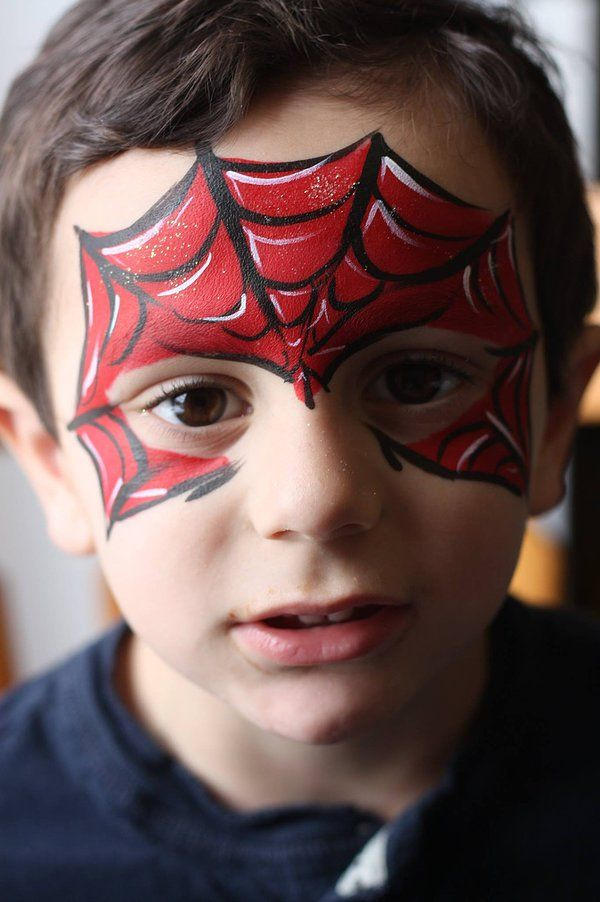 spiderman face painting pinterest spiderman face and birthdays. Black Bedroom Furniture Sets. Home Design Ideas