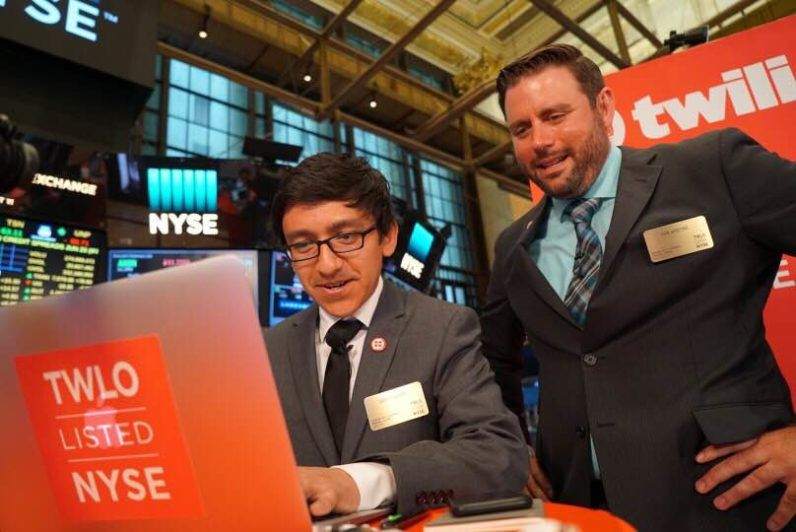 Twilio built 3 apps on the floor of the NYSE to celebrate