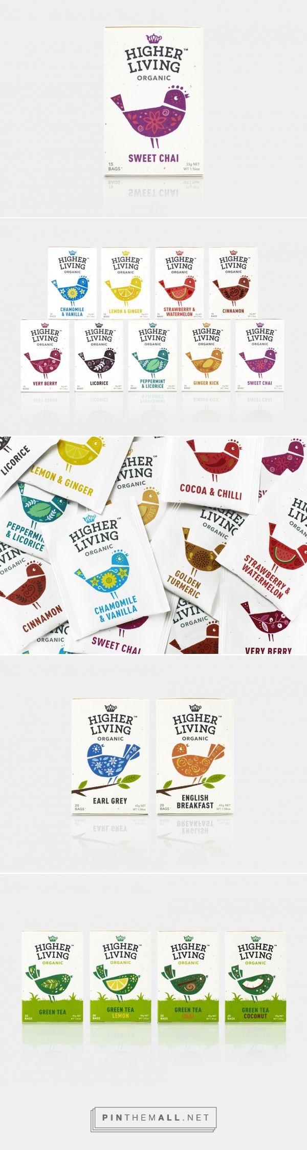 Higher Living Tea packaging design by B&B studio (UK) - http://www.packagingoftheworld.com/2016/06/higher-living.html