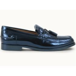 Photo of Tod's – Loafer aus Metallic-Leder, Blau, 9.5 – Shoes Tod's