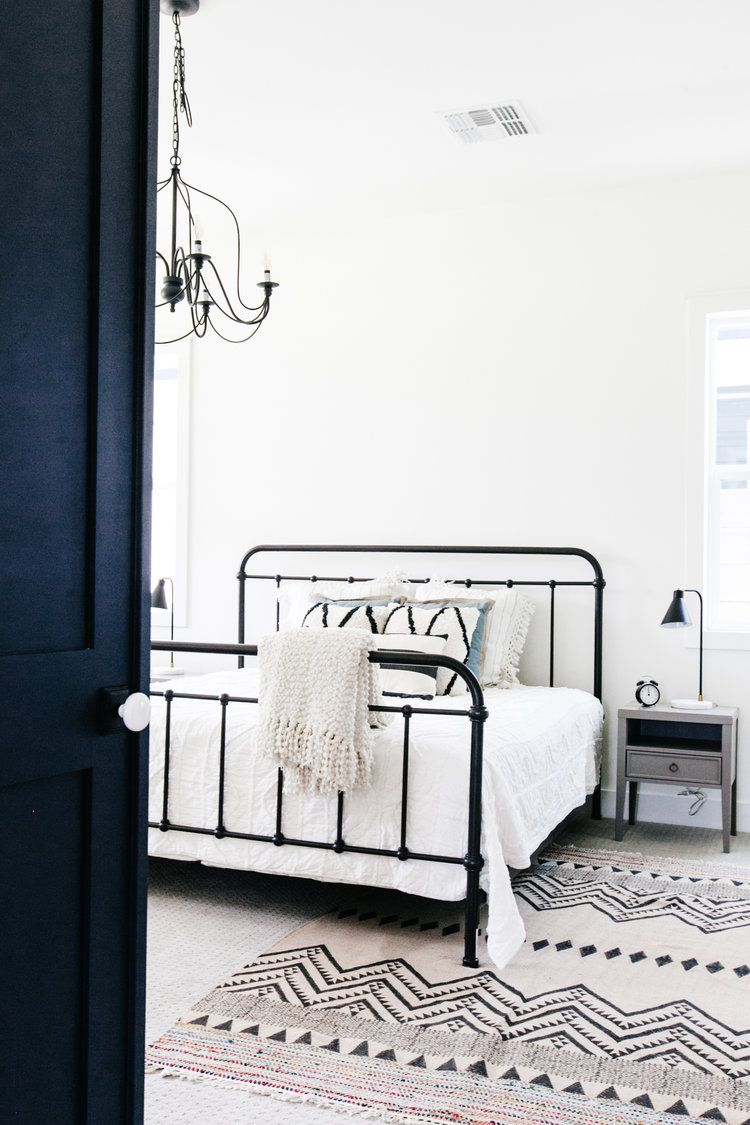 7798e470f92c Bedroom - black iron bed | LGD Portfolio in 2019 | Modern farmhouse ...