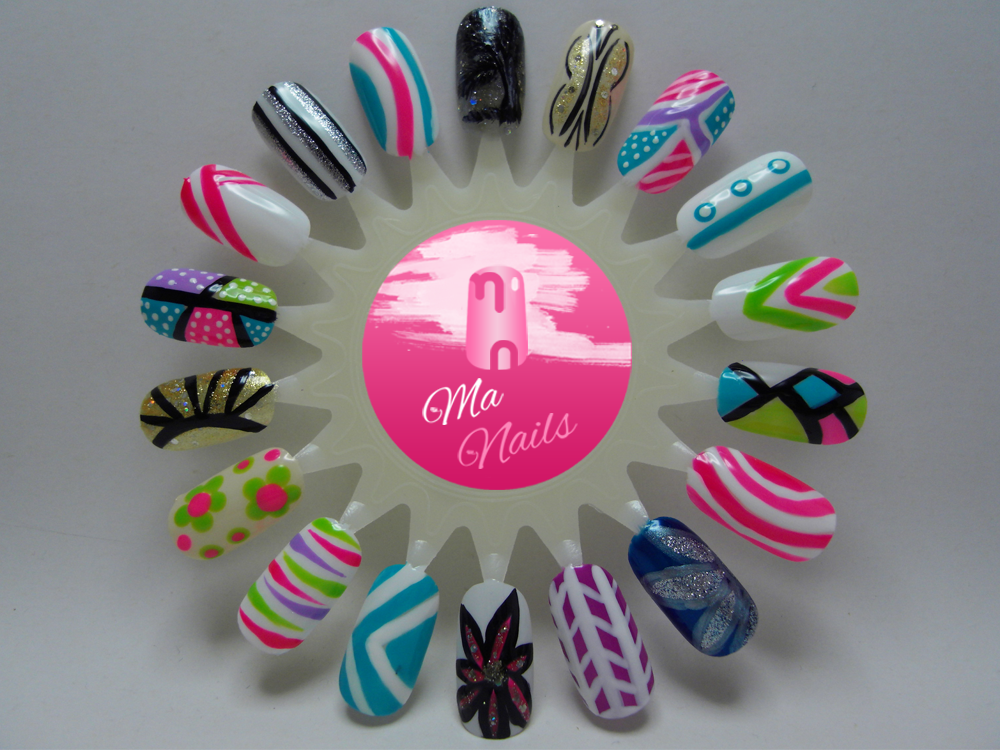 Nail Art Designs using Nail Art Stripers - Ma Nailshttp://manails.co ...