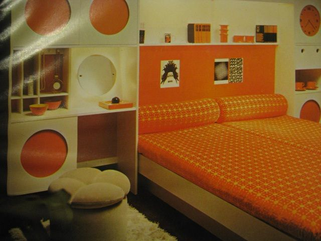 Cool 70s Bedroom Orange And White 70s Bedroom Retro Room Bedroom Images