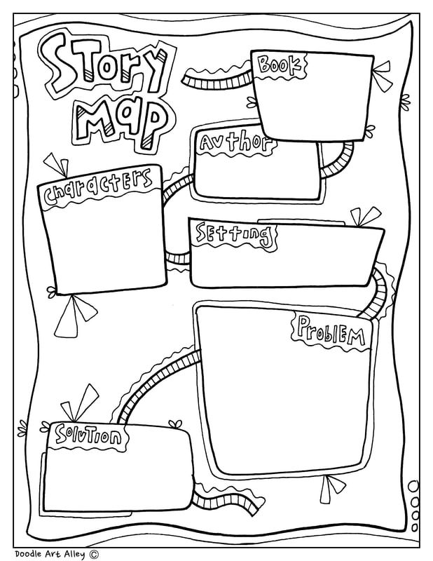 story map graphic organizer at classroom doodles  from doodle art alley
