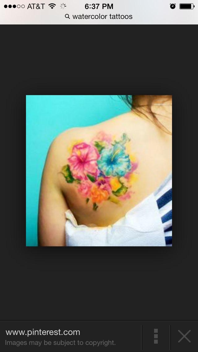 Flower watercolor tattoo