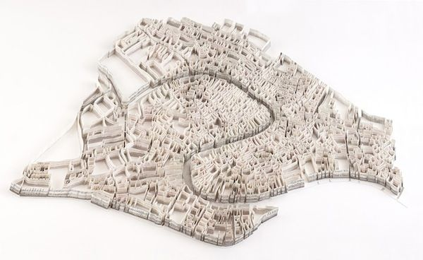 Artist Creates Thought-Provoking, 3D Paper Sculptures Of City Maps