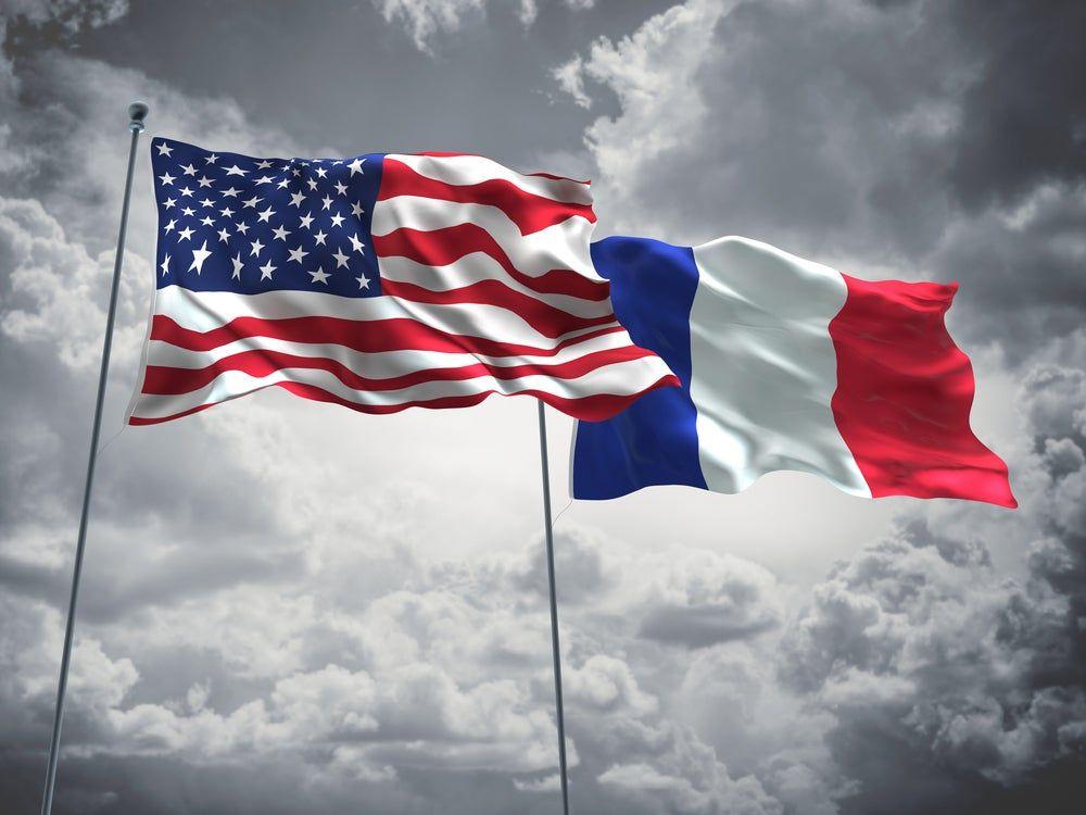 فرنسا تعتزم الرد القوي على أي رسوم جمركية أميركية Us Flag Canada Flag Country Flags