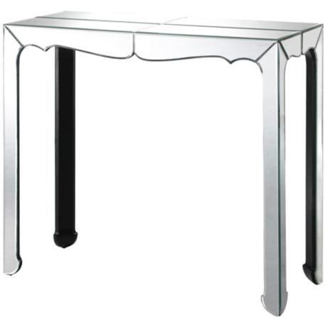 Clear Mirror Console Table | LampsPlus.com 438$