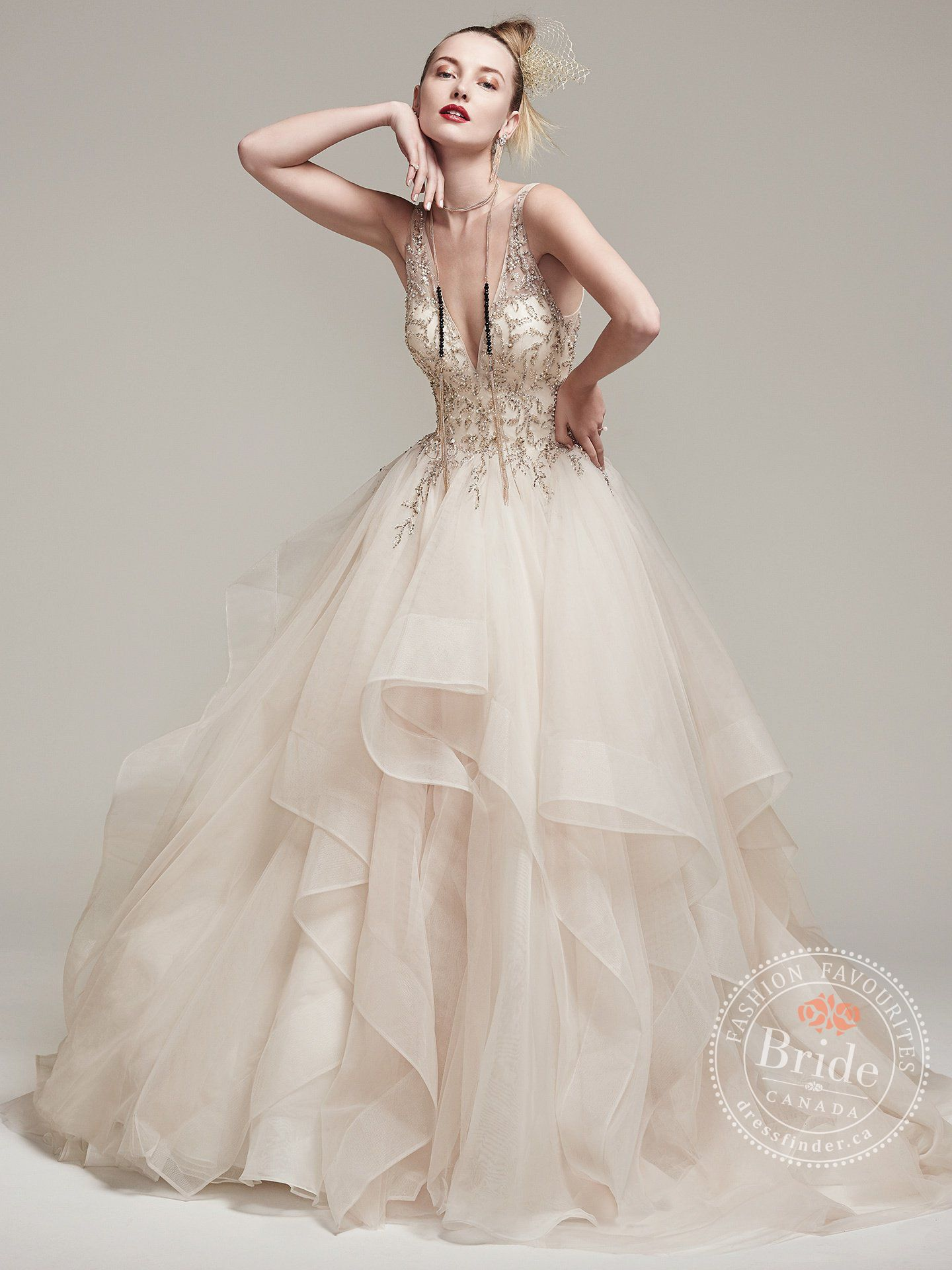 6 amelie by sottero midgley maggie sottero designs sottero midgley fall 2016 bridal sleeveless deep v neck heavily embellished bodice layered tiered princess ball gown a line wedding dress low back v back ombrellifo Choice Image