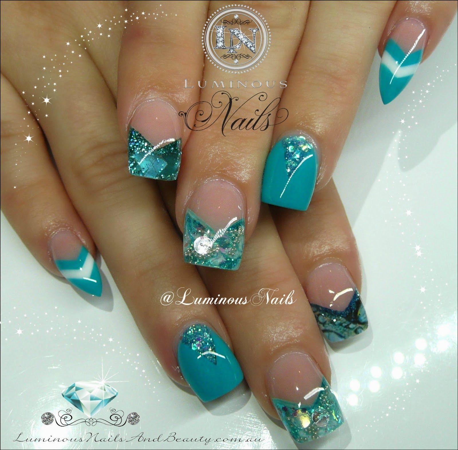 Luminous Nails: Gorgeous Turquoise Nails... | nails | Pinterest