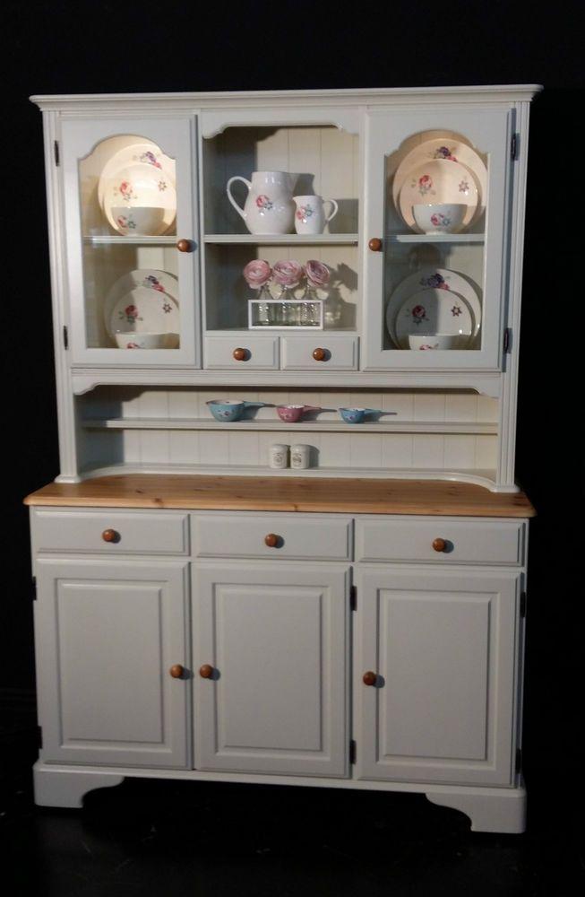 Ducal Pine Farmhouse Kitchen Welsh Dresser Shabby Chic In Farrow Ball