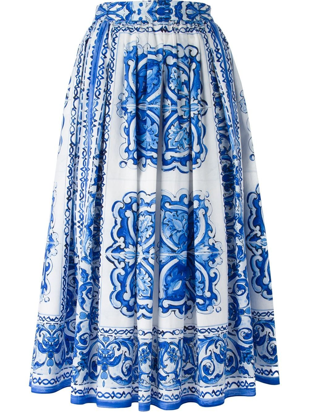 Dolce & Gabbana 'majolica' Rock In A-linie - Donne Concept Store - Farfetch.com