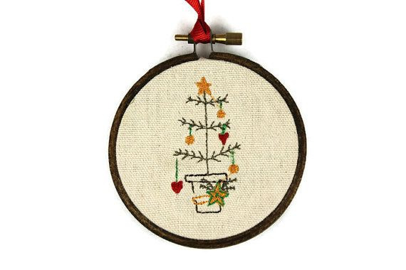 Prim Christmas Tree Ornament - Farmhouse Ornament - Primitive