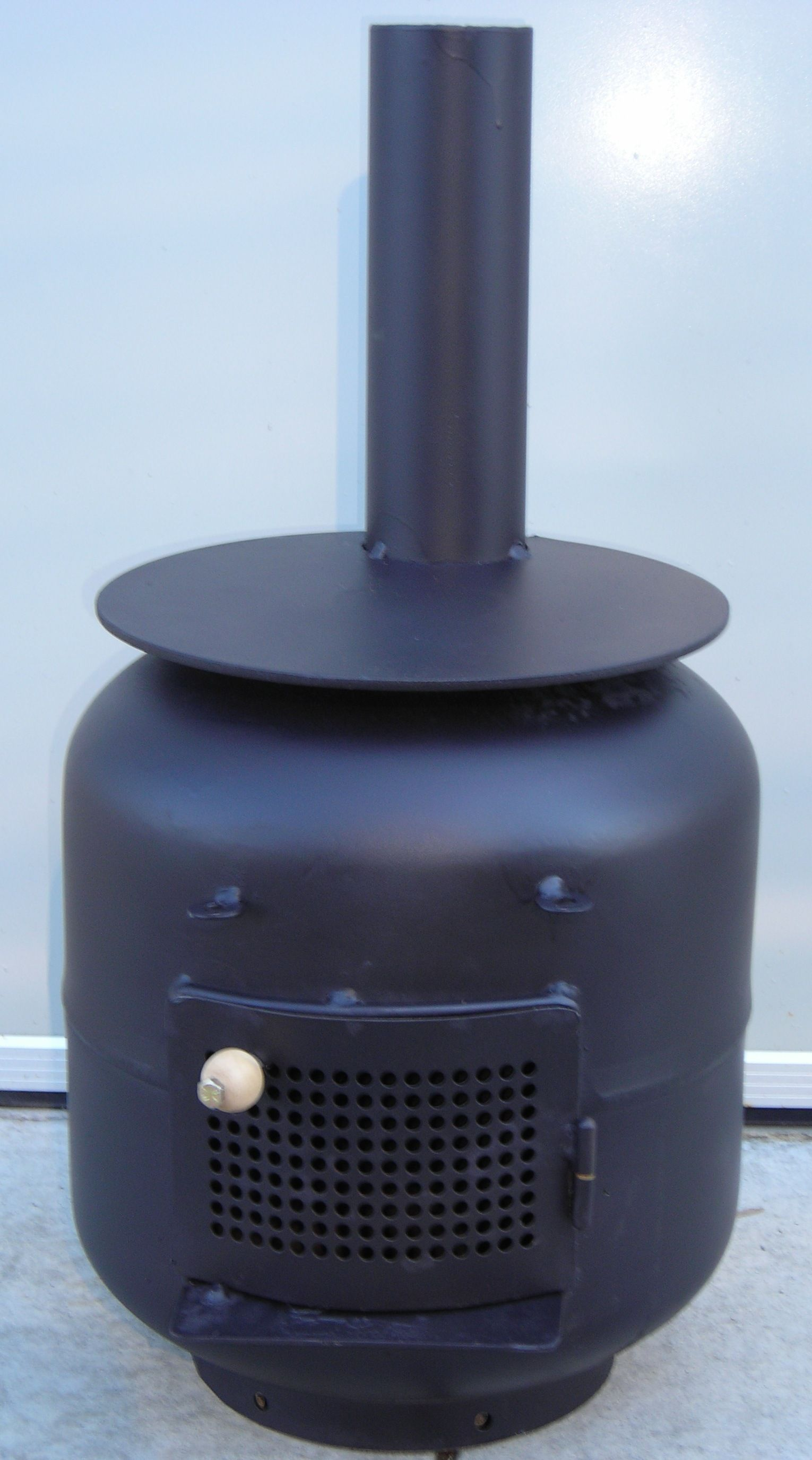 heater cooker made from recycled propane tanks