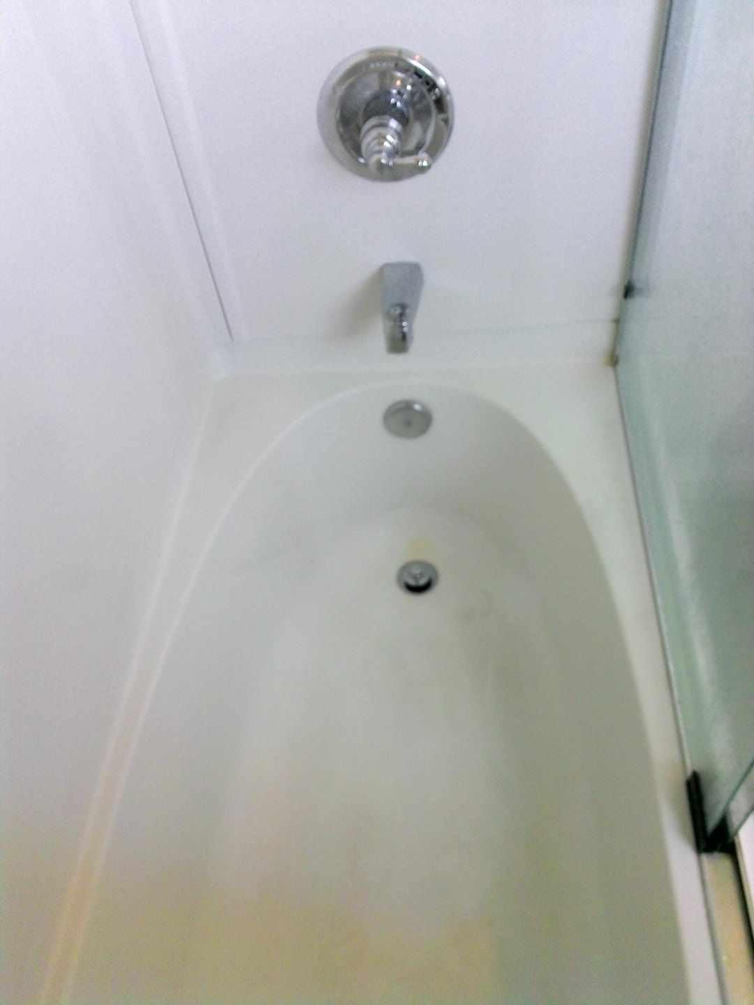 Problem Calcium Deposits On Tub And Shower Doors Remedy Vinegar In