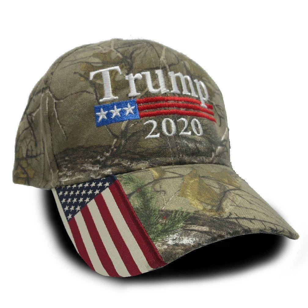 Trump 2020 Real Tree USA Flag Camo Hat Camo hats, Camo