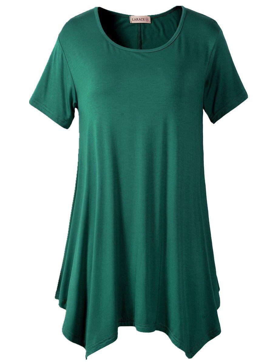 5f5d3f99cd5 larace womens swing tunic tops loose fit comfy flattering T-shirt tops