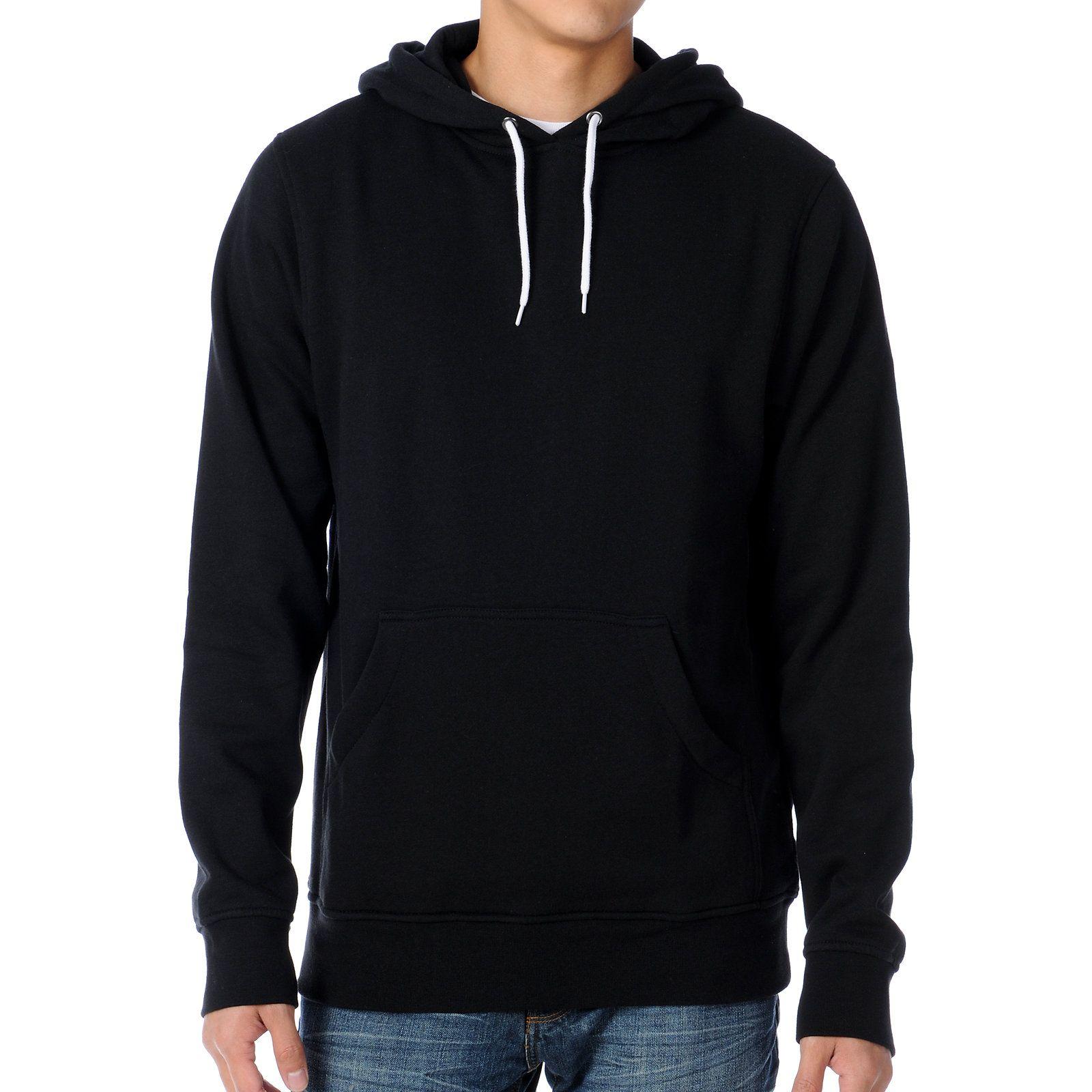 Zine Pulley Solid Black Pullover Hoodie Zumiez Hoodies Black Pullover Hoodie Mens Sweatshirts Hoodie [ 1600 x 1600 Pixel ]