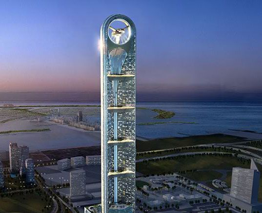anara tower: dubai's titanic turbine-shaped superstructure | dubai