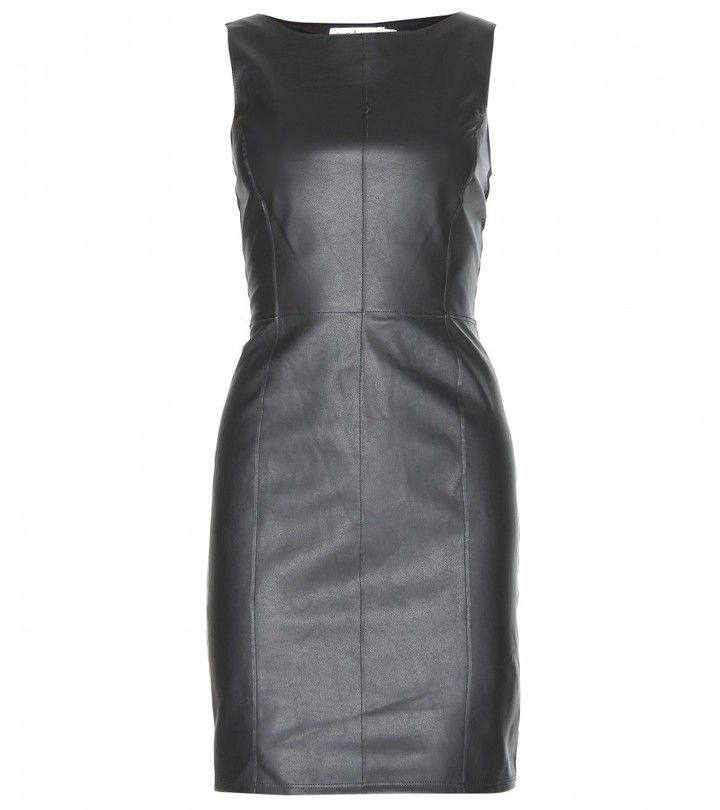 Velvet MARJORY FAUX LEATHER AND JERSEY DRESS on shopstyle.com