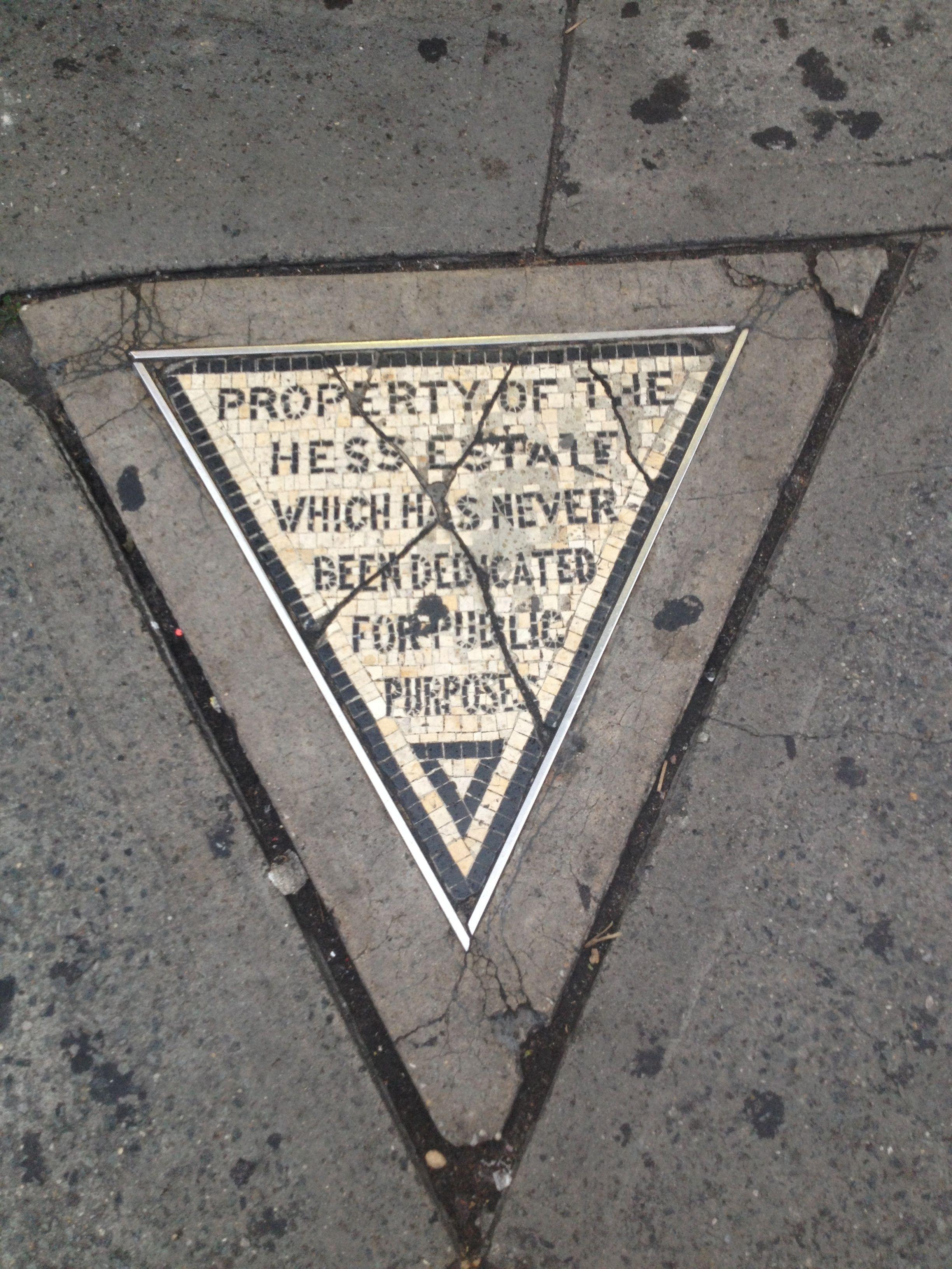 Hess Triangle, New York, NY My travel, Travel, Visiting