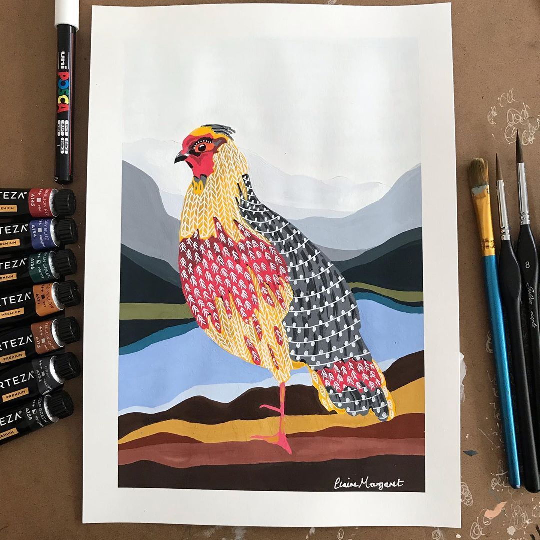 Claire Margaret S Instagram Photo Resting Above The Lake This One Took Most Of Today Bird Art Birds Painting Original Paintings