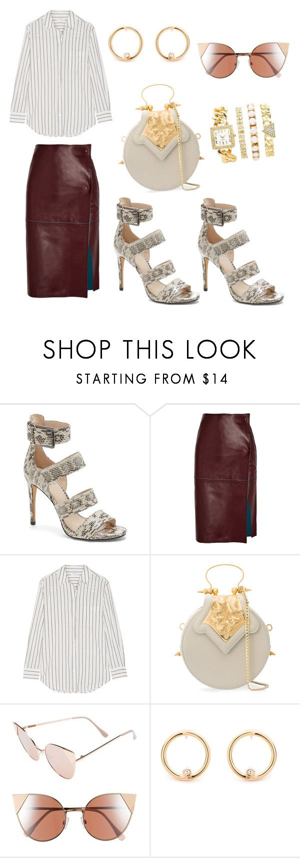 """""""Untitled #3156"""" by loveparis7 ❤ liked on Polyvore featuring Vince Camuto, By Malene Birger, Equipment, Okhtein, BP. and Charlotte Russe"""