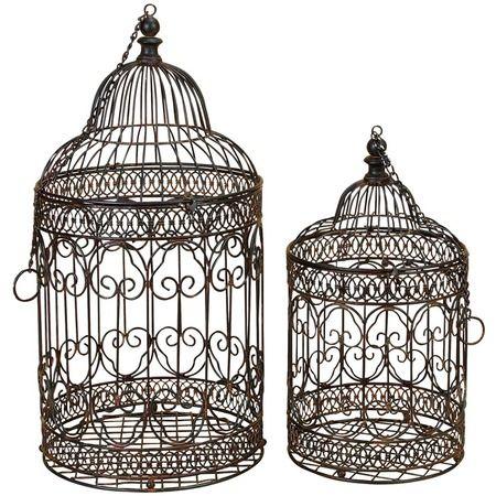 2 Piece Pájaro Bird Cage Set