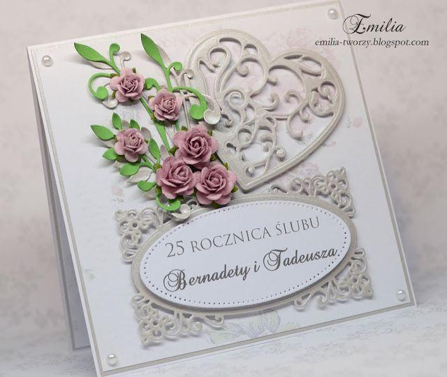 25 Lecie ślubukartka Na Rocznicę ślubuwedding Anniversary Card