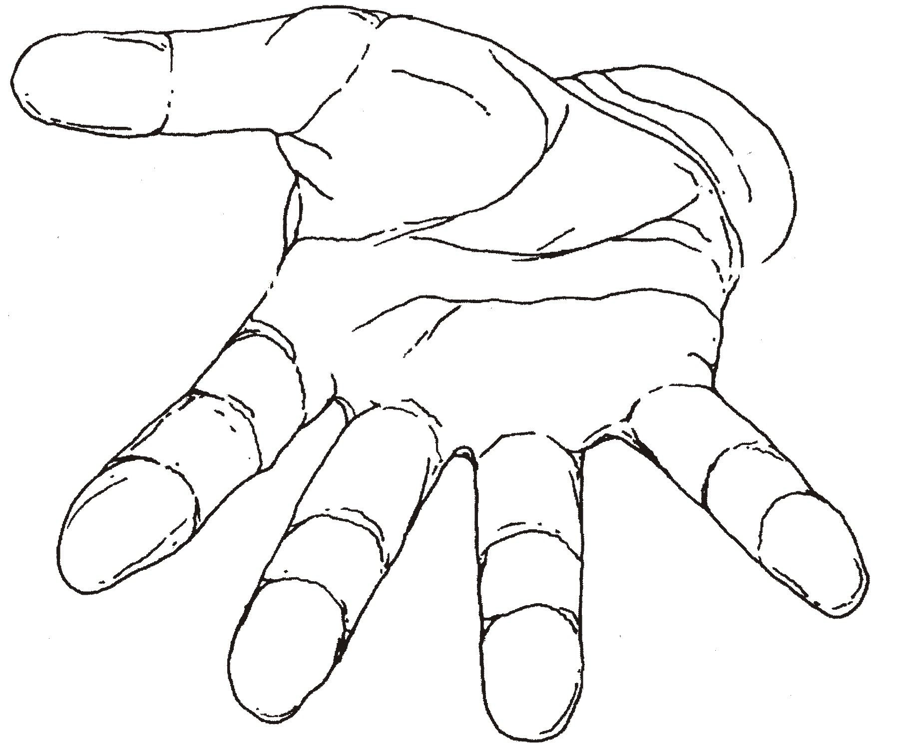 Hand Outline Template Printable Hand Outline Hand Drawing Reference Hand Reaching Out Drawing