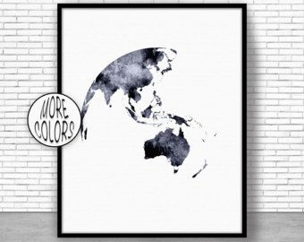 Australia Map Australia Print Globe Art Globe Print Globe