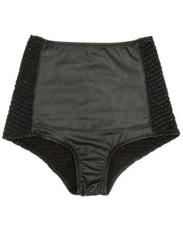 Pleather Burlesque Brief Bikini Bottoms